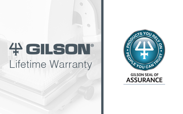 Gilson Lifetime Warranty