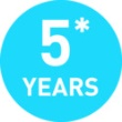 5+ Year Warranty
